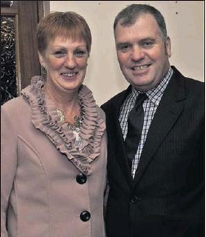 Margaret and Tom Wilkinson at the Captains' Dinner at Coolattin Golf Club.