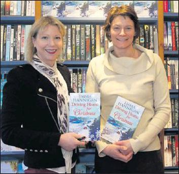 Emma Hannigan at her book signing in Bridge Street Books with Joanna Hamilton.