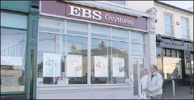 EBS Greystones where the attempted robbery took place.