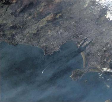 The photograph of North Wicklow and Dublin tweeted by Commander Chris Hadfield from the International Space Station.