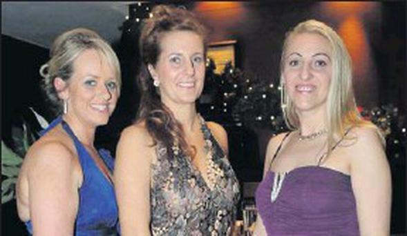 Brid Ryan, Suzanne O'Leary and Beata Koheghi of the Cork International Airport Hotel at the Irish Hotels Federation (Cork Branch) annual dinner dance at the Radisson Blu Hotel on Monday night last week. Credit: Photo: Brian Lougheed