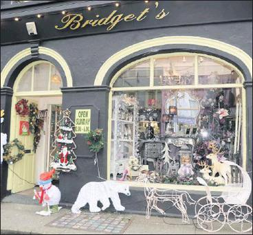 Bridget's Shop at Main Street Charleville that won the Charleville Chamber sponsored Christmas shop window display.