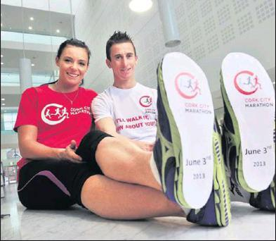 WALK BEFORE YOU RUN: Rob and Marian Heffernan are urging everyone to make getting fit their New Year's resolution for 2013.