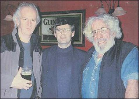 The late Pecker Dunne (right) pictured with close Millstreet friend Noel Keating and international actor Sean McGinlay (left).