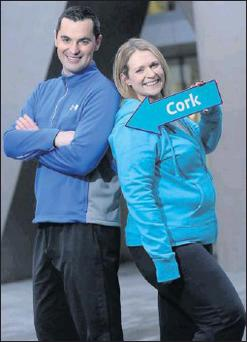 You can walk with Deirdre, seen here with Karl, in Blarney on January 19.