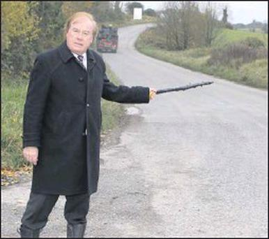 Cllr. Frank Godfrey is calling for increased safety measures on the Drogheda to Donore Road, a popular route for those travelling to Newgrange.