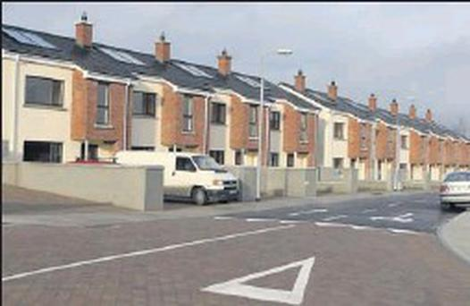 Boice Court, Louth Local Authority housing recently handed over to tenants.