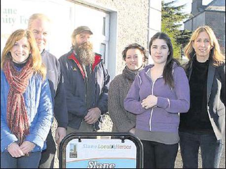 Slane Local Heroes volunteers Michele Power, Robert Berrill, Pat Doyle, Jane Wardick-Devin, Shannon O'Connor and Fiona Jenkinson.