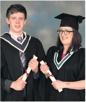 Aisling and Eoghan Hurley who recently graduated.