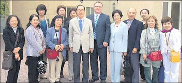 Sean McCoy, Director, Moorehall Lodge Drogheda, with a group of Japanese health professionals who recently visited the nursing home.
