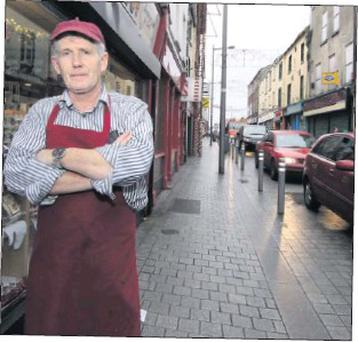 Francis Hurley of Hurley Bros on Narrow West Street.