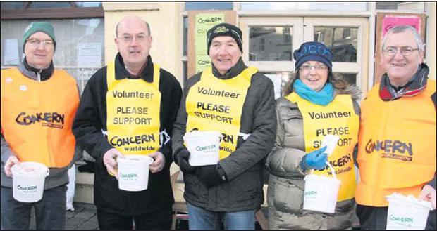 Phil Kearney, Dermot Davis, Colm McGibney, Annette Mc Carty and Eugene Doyle who took part in the Concern 24-Hour Fast.