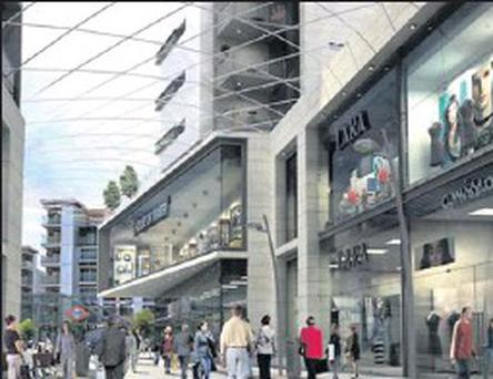 An artist's impression of phase three of the Pavilions in Swords.