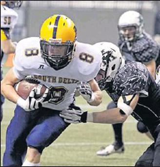 Hard to stop - Malahide's Shane Dagg in Canadian Football action.