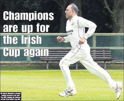 Naseer Shaukat is already looking forward to his club The HIlls making the defence of their Irish Senior Cup title.