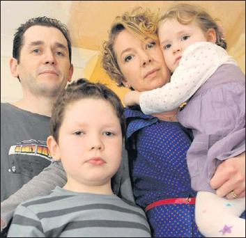 Niamh Byrne with her husband Richard and children Martha and Richard Junior.