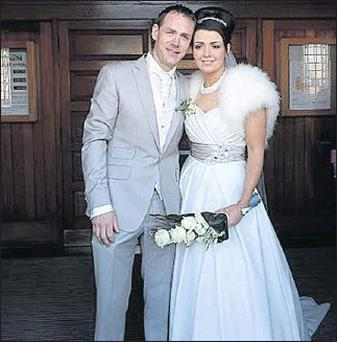 Damien Howard and Deborah Rogan, who were married in Skerries last week. Pic: Donna Costello