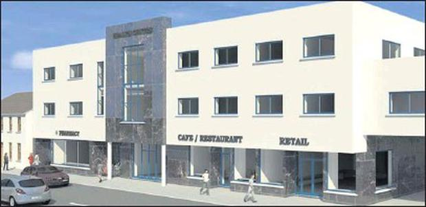A computer-generated image of Rhonellen's planned primary care centre on the Dublin Road.