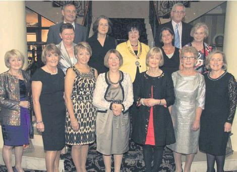 At the INTO dinner dance. Back: Noeleen Brown, Evan Stack, Anne O'Neill, national president Anne Fay, Eilish Ryan, Frank Doyle and Mary Lee. Front: Mary McDonald, Dorothy Kenny, Dorothy Hatton, Mary Carlin, Joss O'Neill, Mary Sheil and Margaret...