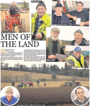 Nick Walsh, Adamstown Willie Walsh, Askamore David Levingstone, Rathnure and (RIGHT) Tommy Devereux, Craanford Bill Murphy and land owner, Matt Doyle Judges Tom Jenkinson and John Armstrong Eric Bradshaw