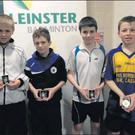 Winners and runners-up in the Leinster U-13 'B' boys' doubles (from left): Jack Nolan and Seán Dowling (Gorey), Patrick O'Regan (Taghmon) and Adam Bookle (Terrerath).