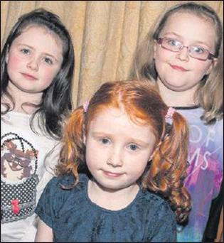 Eva Nolan, clodagh Bradley and Katie Corkery at the Kilflynn Fashion Show at the Meadowlands Hotel on Friday