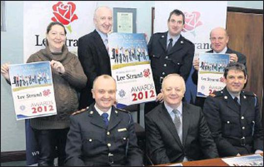 At the press launch of the Lee Strand and Kerry Garda Youth Achievment Awards 2012 on Friday were (sitting, from left) Chief Superintendent Pat Sullivan, General Manager Lee Strand John O'Sullivan, and Inspector Fergal Patwell. Back (from left):... Credit: Photo by John Cleary