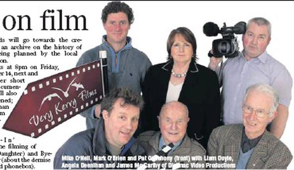 Mike O'Neil, Mark O'Brien and Pat O'Mahony (front) with Liam Doyle, Angela Deenihan and James Mc Carthy of Digimac Video Productions