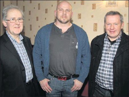 At the launch of the Castleisland branch of the People Before Profit Party at The Crown Hotel on Friday night were from left: Frank Kevins, Currans; Brian Finucane, Ballylongford and Patrick O'Leary, Glounthane. Photo: John Reidy