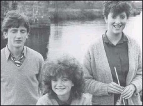 Students from the Intermediate School in Killorglin (from left) Fergal O'Shea (aged 16), Rangue, Killorglin; Deirdre Costello (17), Sunhill, Killorglin, and Paula O'Connor (16), Laune View, also Killorglin, who have undertakern a study of man's...