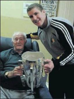 Pictured right are Seamus and Eoin with the cup.