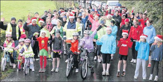 Participants in the St Joseph's AC Fun Run on St Stephen's Day.