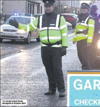 A recent armed Garda checkpoint in Dromore West