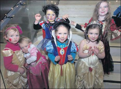 Six princesses pictured at the screening of 'Beauty and the Beast' in the Model as part of the recent Northwest Film and Music Fest. From left: Ella and Laoise Niland, Eva Sweeney, Hannah Moore, Evie Redahan and Lilly Byrne.