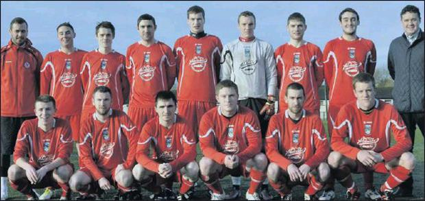 The St. John's A team which beat Yeats United 4-2 in the Best Western Southern Hotel Super League on Sunday.