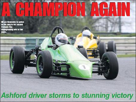 Lee Newsome in action on his way to his second Formula Vee championship win in two years.