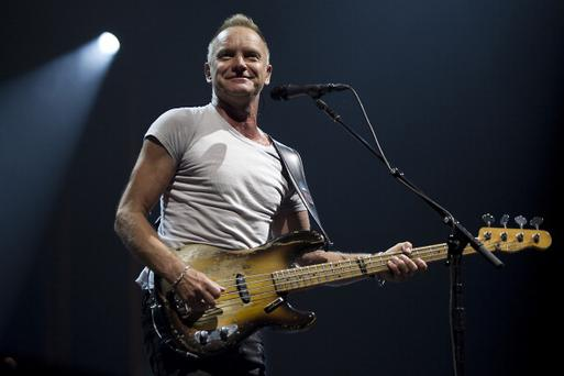 British singer Sting performs during a concert in the Ziggo Dome in Amsterdam on July 3, 2012. AFP PHOTO / ANP / PAUL BERGEN ***NETHERLANDS OUT*** (Photo credit should read PAUL BERGEN/AFP/GettyImages)
