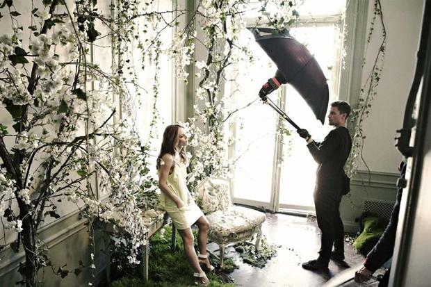 Vanessa Paradis on set of the H&M Conscious campaign