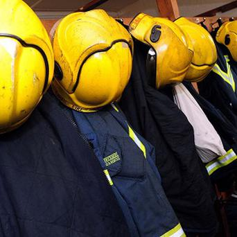 More than 40 firefighters were tackling the blaze