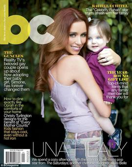 Aoife Belle and mum Una on the cover of Bc (Baby Couture) magazine.