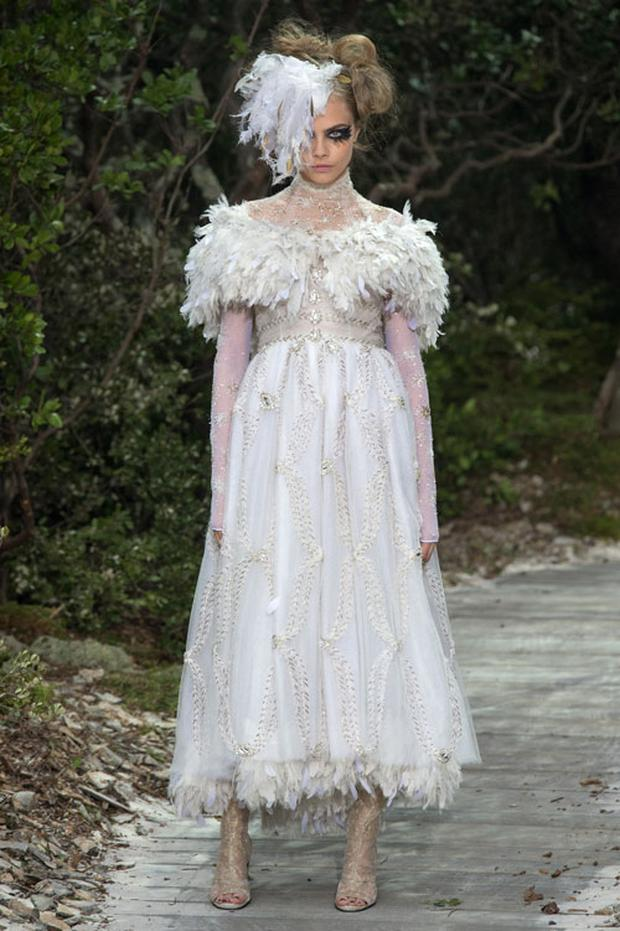 Cara Delevigne looked ethereal at the show