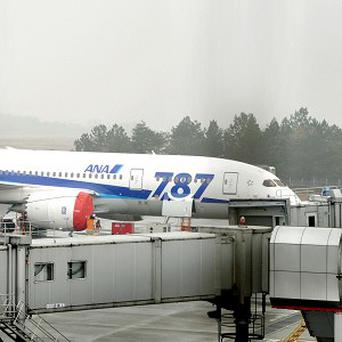 An All Nippon Airways 787 flight, which made an emergency landing last week, grounded at Takamatsu airport, western Japan (AP)