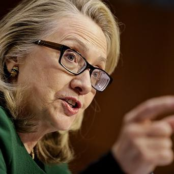 US Secretary of State Hillary Clinton testifies before the Senate Foreign Relations Committee in Washington (AP)