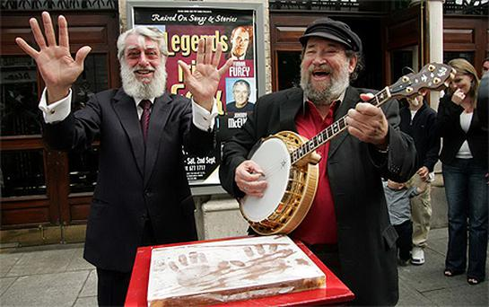 Barney McKenna, right, and Ronnie Drew: founding members of the Dubliners