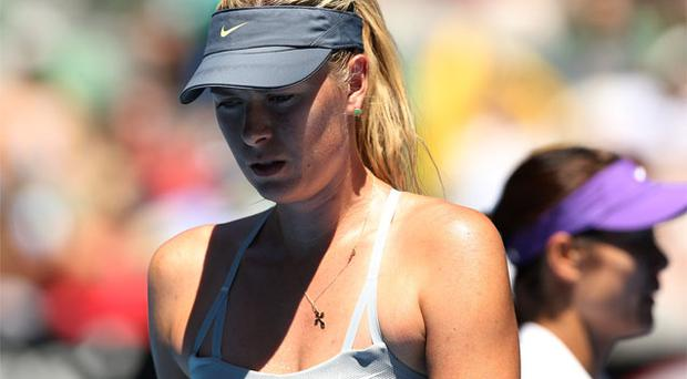 24 January, 2013: Maria Sharapova looks on in her Semifinal match against Na Li of China during day eleven of the 2013 Australian Open