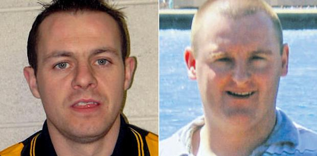 Murdered GAA footballer James Hughes and Shane Rogers