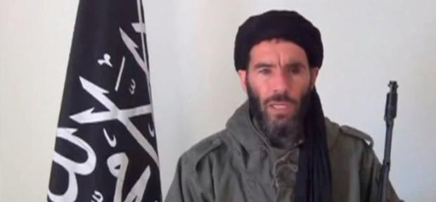 Mokhtar Belmokhtar, identified by the Algerian interior ministry as the leader of a militant Islamic group, is pictured in a screen capture from an undated video distributed by the Belmokhtar Brigade obtained by Reuters January 16, 2013. REUTERS/Belmokhtar Brigade/Handout