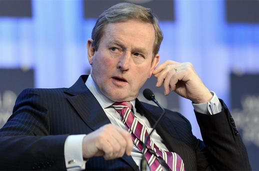 Taoiseach Enda Kenny attends a panel session of the 43rd Annual Meeting of the World Economic Forum, WEF, in Davos. Photo: AP
