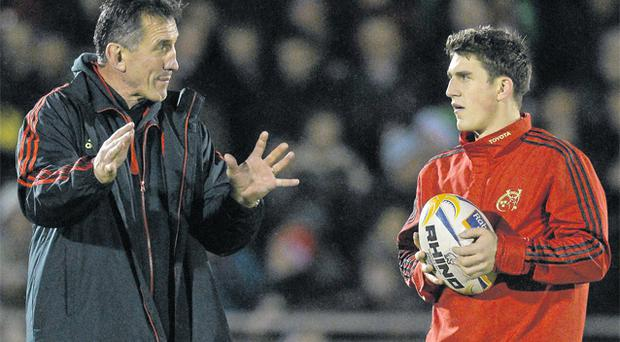 Ian Keatley is firmly in Rob Penney's plans after signing a new deal that will keep the out-half at Munster until 2015
