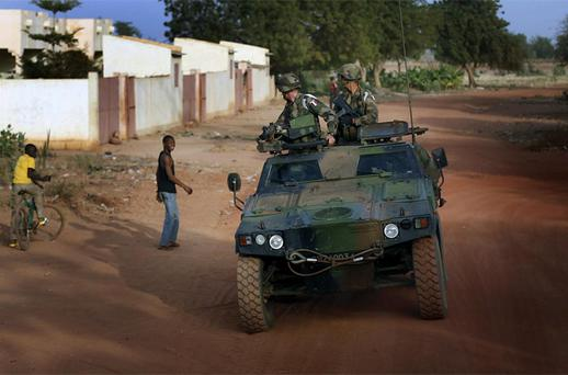 French soldiers return from patrol in Sevare, some 620 kms (400 miles) north of Mali's capital Bamako. Photo: AP